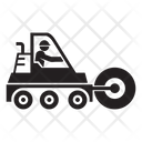 Steamroller Vehicle Road Roller Icon