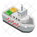 Steamship Delivery Ship Cruise Ship Icon
