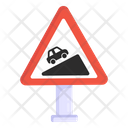 Steep Road Steep Ascent Traffic Board Icon