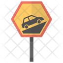 Steep Hill Sign Icon