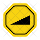 Steep Hill Upward Road Warning Steep Hill Icon