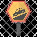 Steep Sign Grade Icon