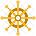 Summer Ship Steer Wheel Icon