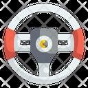 Steering Wheel Driving Icon