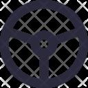 Steering Car Wheel Icon