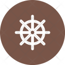 Ship Wheel Steering Icon