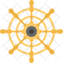 Steering Ship Wheel Icon