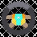 Steering Wheel Drive Car Icon