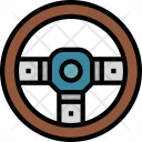 Steering Wheel Driving Icon
