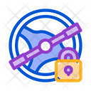 Steering Wheel lock Icon