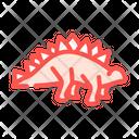 Stegosaurus Dinosaur Color Icon