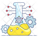 Stem Education Chemistry Flask Lab Practical Icon