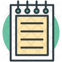 Steno Pad Writing Icon