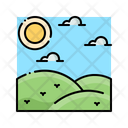 Steppe Nature Landscape Icon