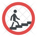 Stepped Access Sign Icon