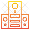 Stereo Speaker Sound Icon