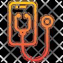 Health Checkup Smartphone Stethoscope Icon