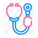 Digital Stethoscope Color Icon