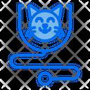 Stethoscope Cat Clinic Icon