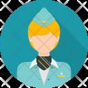 Stewardess Attendant Avatar Icon