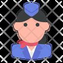 Stewardess Flight Attendant Air Hostess Icon