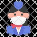 Stewardess Avatar Woman Icon