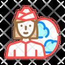 Stewardess Woman Job Icon