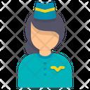 Stewardess Air Hostess Flight Attendant Icon