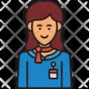 Stewardess Hostess Attendant Icon