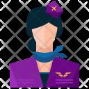 Stewardess Avatar Icon