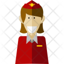 Stewardess Professional Worker Icon