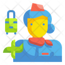 Stewardress Woman Assistant Icon
