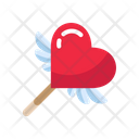 Stick Wing Heart Icon