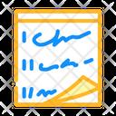 Stickers Paper List Icon