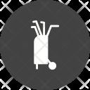 Golf Sticks Bag Icon