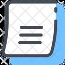 Sheet Document List Icon