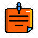 Sticky Note Note Note Design Icon