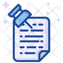 Sticky Note Pin Document Icon