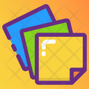 Drafting Papers Writing Paper Sticky Notes Icon