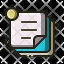 Note Sticky Notes Stationery Icon