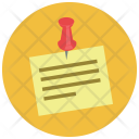 Pinned Paper Sticky Icon