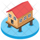 Stilt Home Flood Protection Home Icon