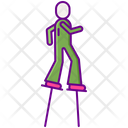 Stilts Walker Shilt Icon