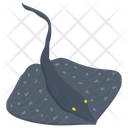 Stingray Roughtail Stingray Sea Creature Icon