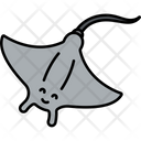 Stingray Fish Sea Creature Icon