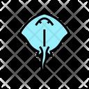 Stingray Ocean Underwater Icon
