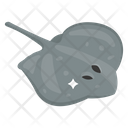 Stingray Fish Aquatic Creature Seafood Icon