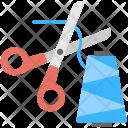 Scissor Thread Cutting Icon