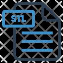 Stl File Sheet Icon