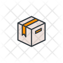 Stock Delivery Box Parcel Icon